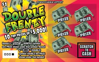 DOUBLE FRENZY from 1$ PA LOTTERY