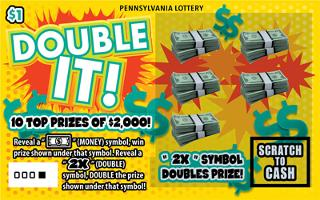 DOUBLE IT from 1$ PA LOTTERY