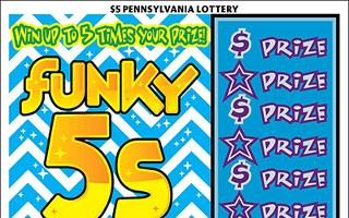 FUNKY 5S from 5$ PA LOTTERY