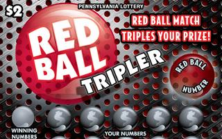 red ball tripler from 2$ PA LOTTERY
