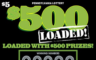 $500 LOADED from 5$ PA LOTTERY