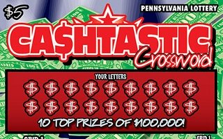 CASHTASTIC CROSSWORD from 5$ PA LOTTERY
