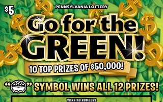 go for the green from 5$ PA LOTTERY