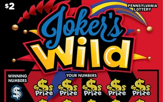 JOKER'S WILD from 2$ PA LOTTERY