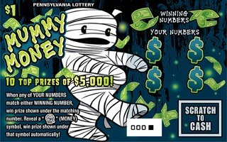 MUMMY MONEY from 1$ PA LOTTERY