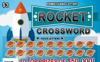 ROCKET CROSSWORD from 3$ PA LOTTERY