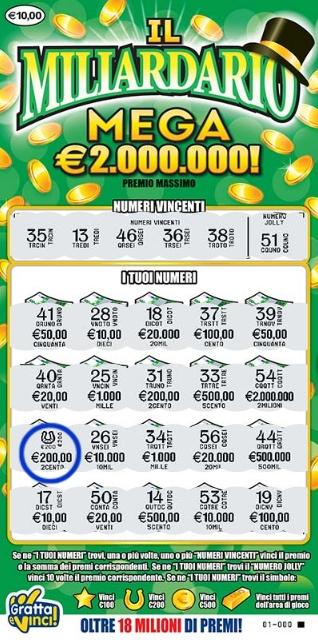 Probabilità di uscire con un milionario