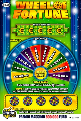 biglietto di WHEEL OF FORTUNE gratta e vinci